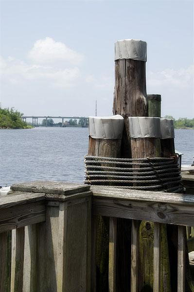 Boardwalk pylons